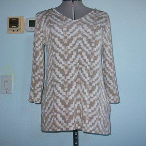 Chico's Travelers Size S M Stretchy Sparkly Blouse